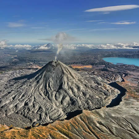 The land of active volcanoes